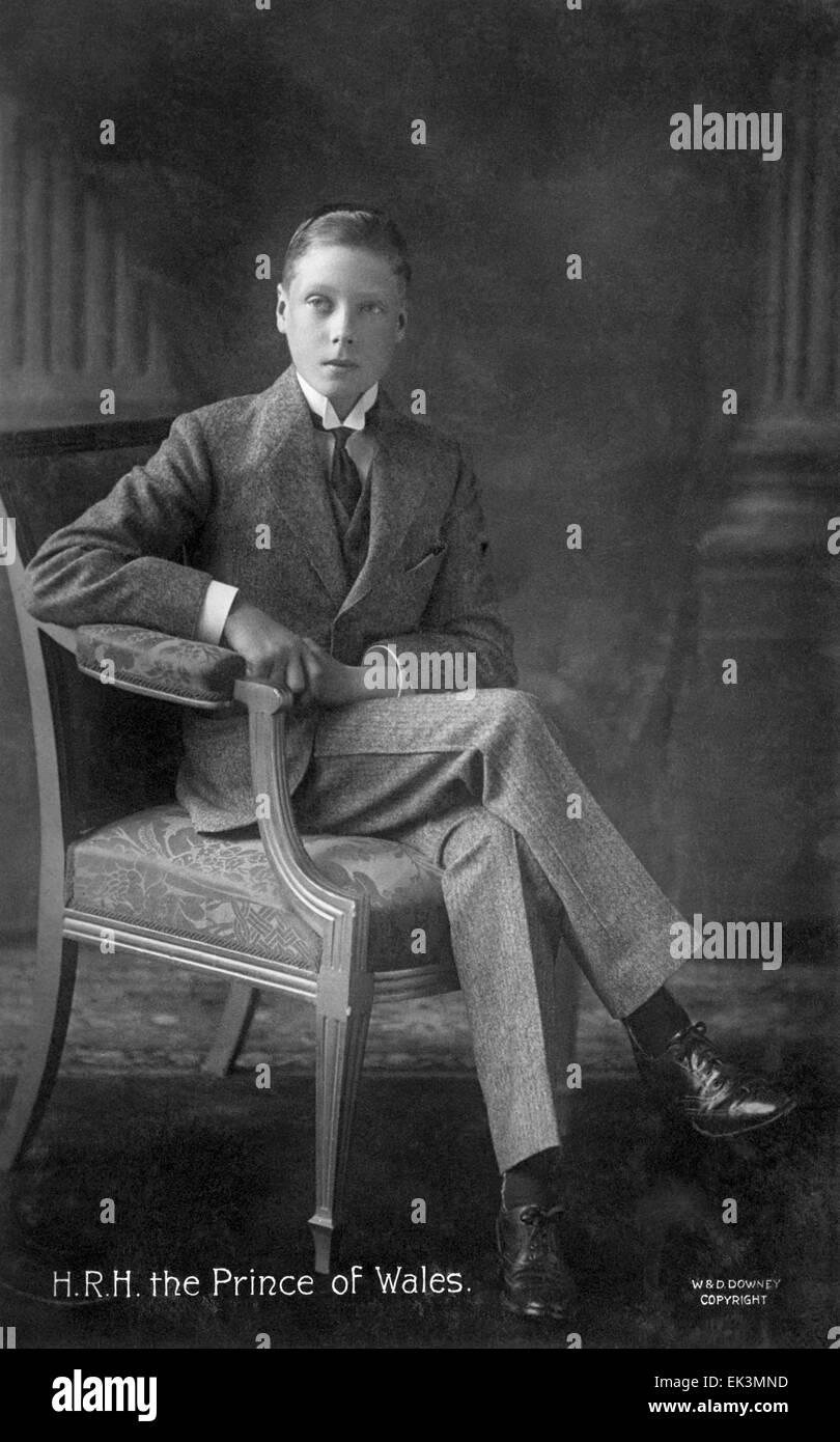 King Edward VIII, of United Kingdom, as Prince of Wales, Portrait, 1911 - Stock Image