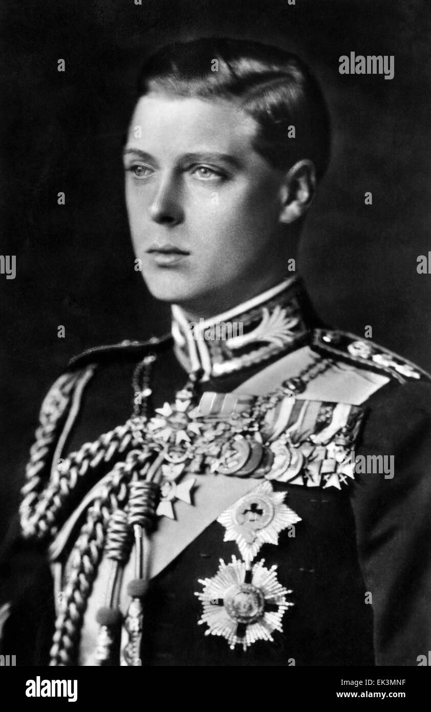 King Edward VIII, as Prince of Wales, Portrait, circa 1920's Stock Photo