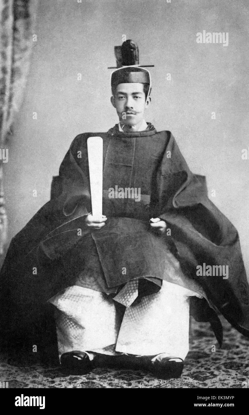 Emperor Meiji of Japan, Portrait, circa 1880's - Stock Image
