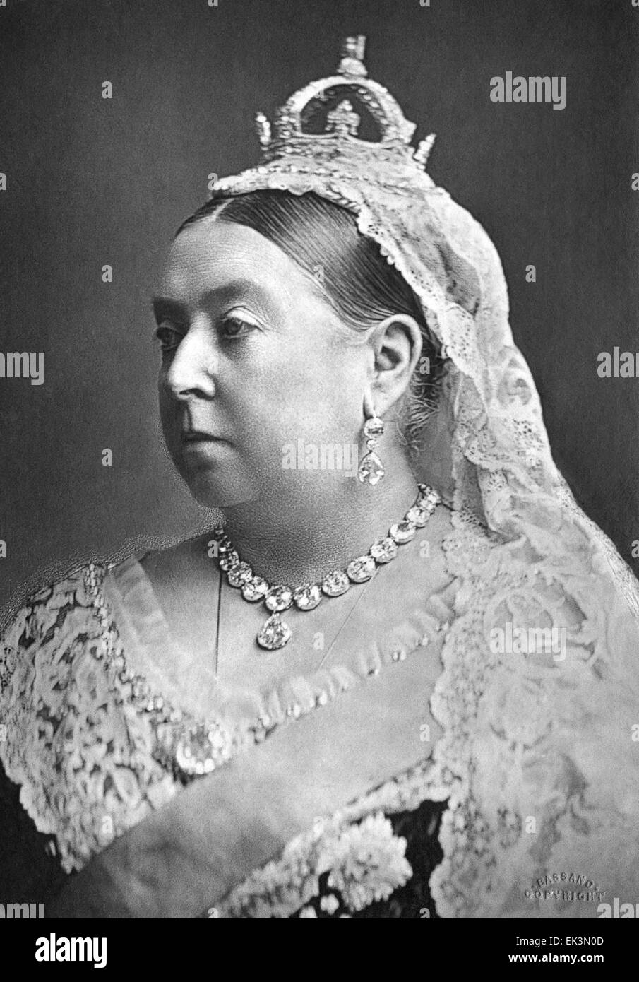 Queen Victoria, of the United Kingdom, Portrait 1882 - Stock Image