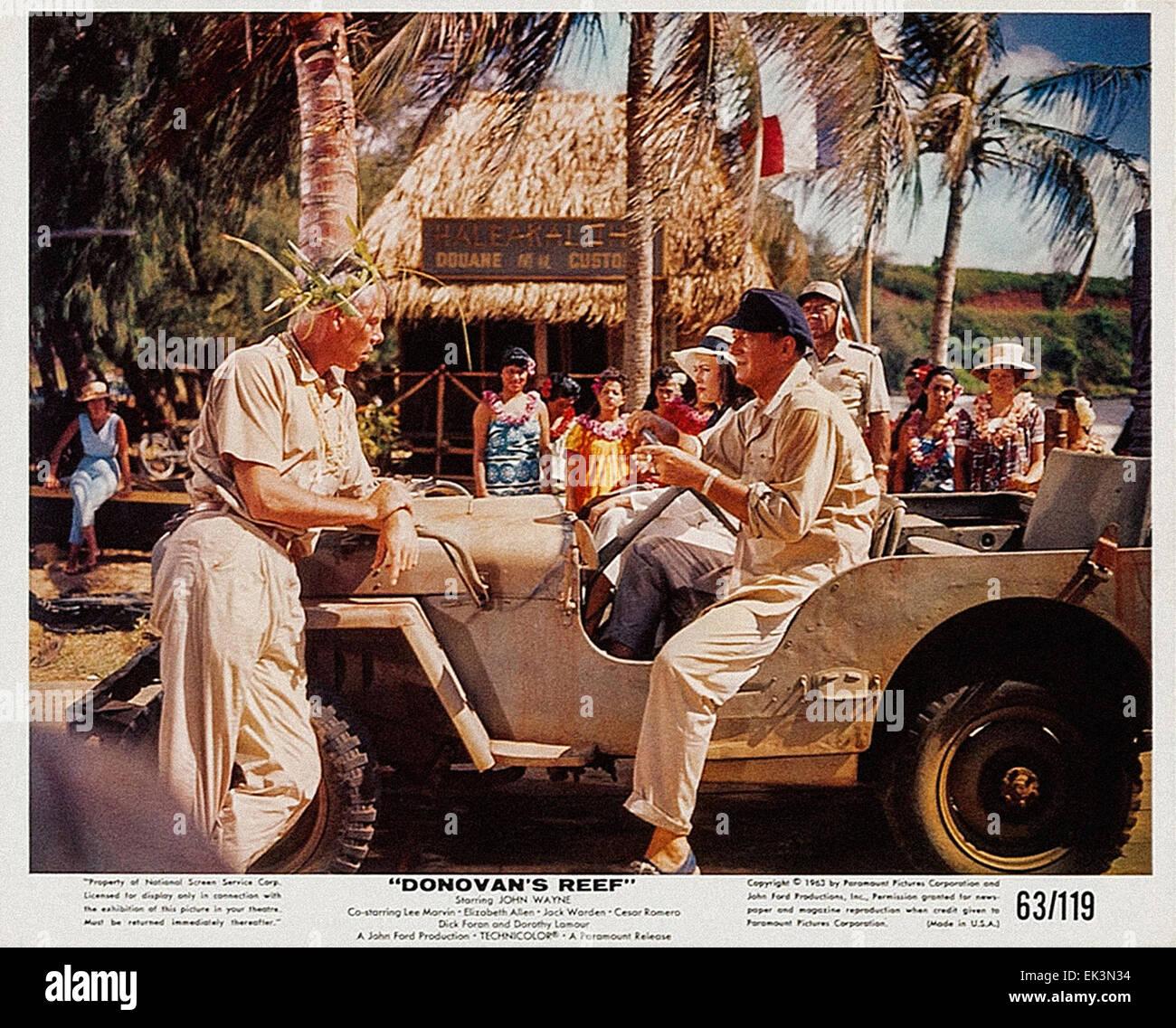Donovan's Reef  - John Wayne - Movie Poster - Stock Image