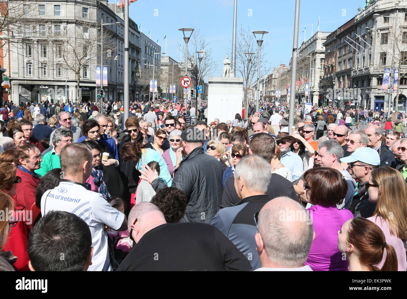 Dublin, Ireland. 06th Apr, 2015. Image from the recreation of Easter 1915 in Dublin city centre as part of the 1916 Stock Photo