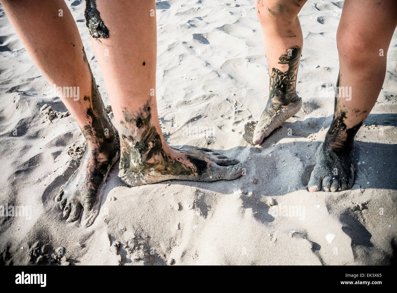 dirty feet - Stock Image