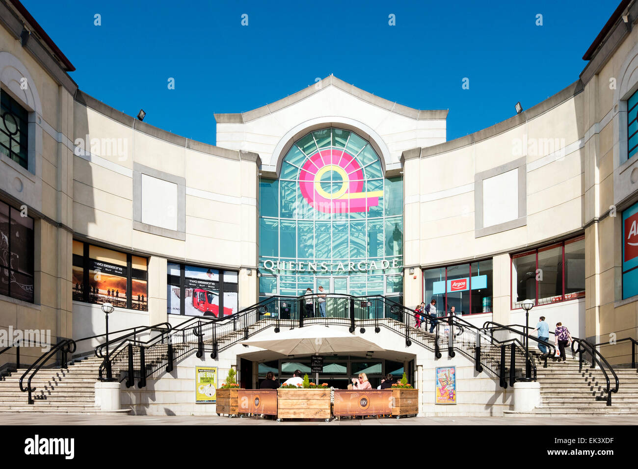 Queens Arcade, Cardiff, Wales, UK. Stock Photo
