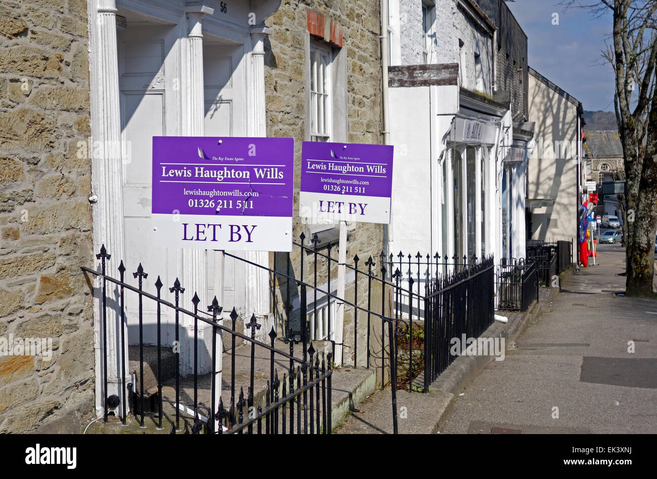 Property for let in Falmouth, Cornwall, UK - Stock Image