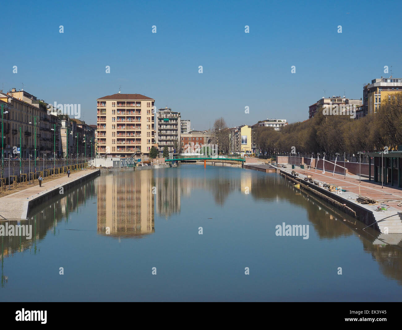 MILAN, ITALY - MARCH 28, 2015: The City harbor known as La Darsena is being redeveloped as part of the Expo Milano - Stock Image
