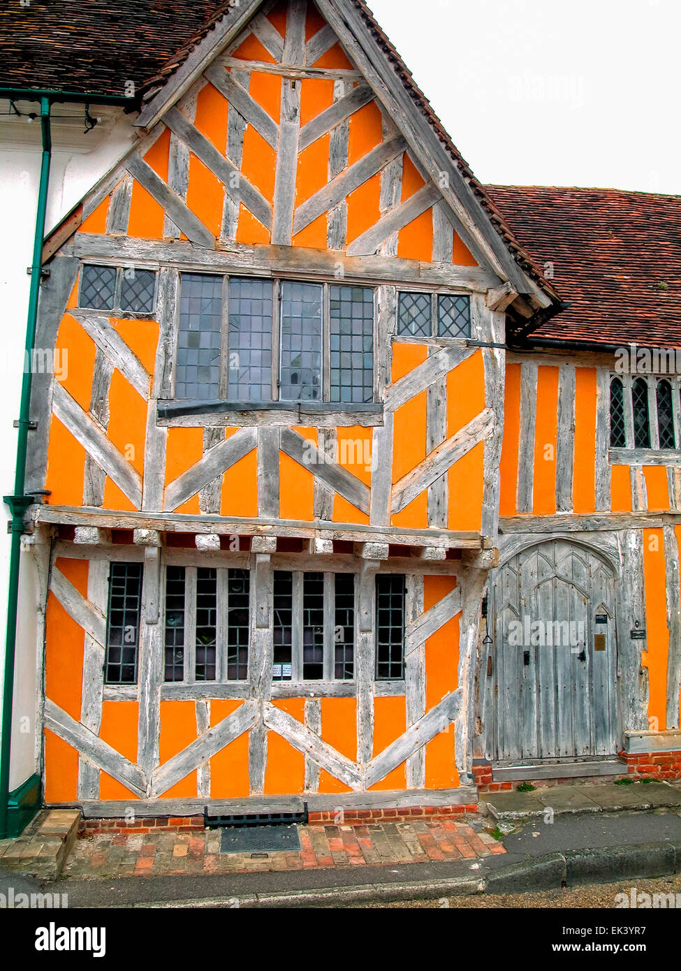 Little Hall Market Place 14th Century Buiding Suffolk Lavenham England Europe Stock Photo