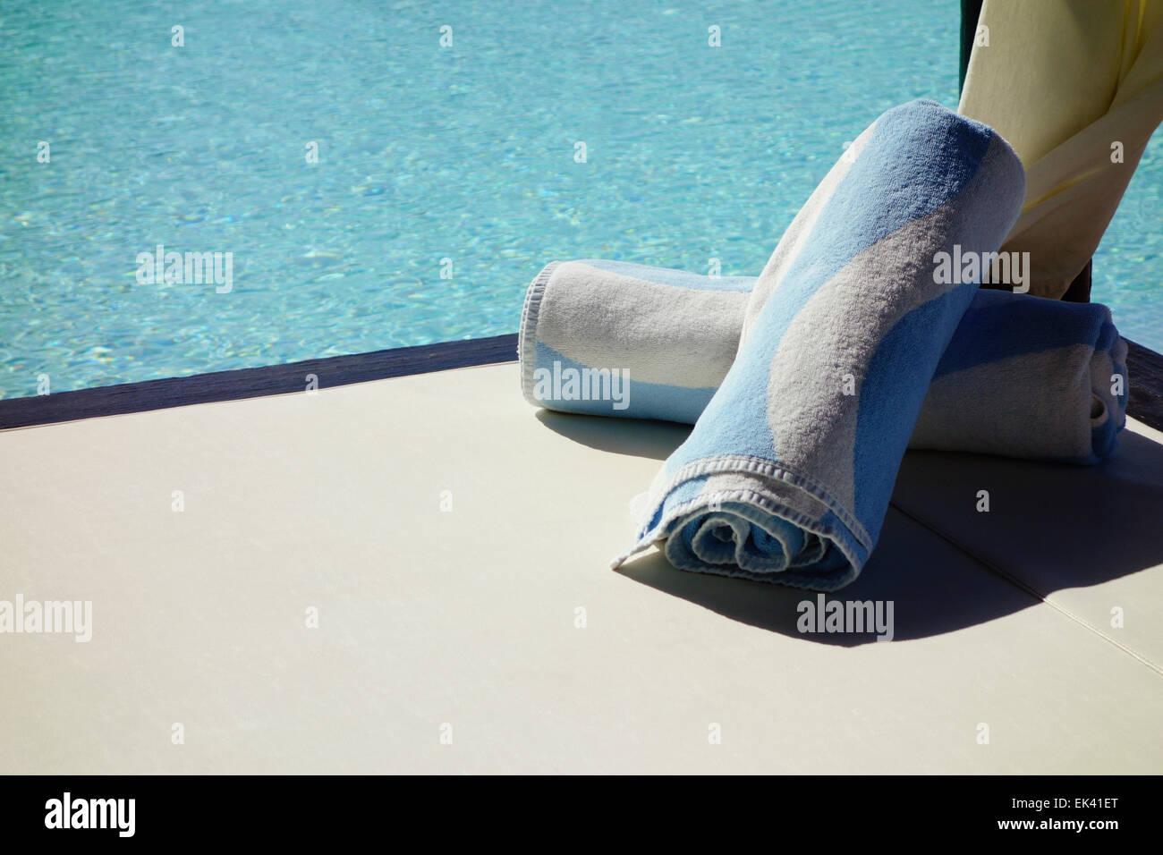 Pool Side Luxury Holidays Stock Photo