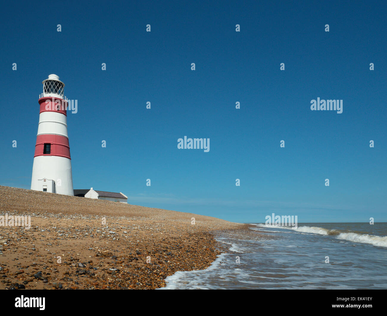 Orfordness Lighthouse, Orford, Suffolk, England, United Kingdom Stock Photo