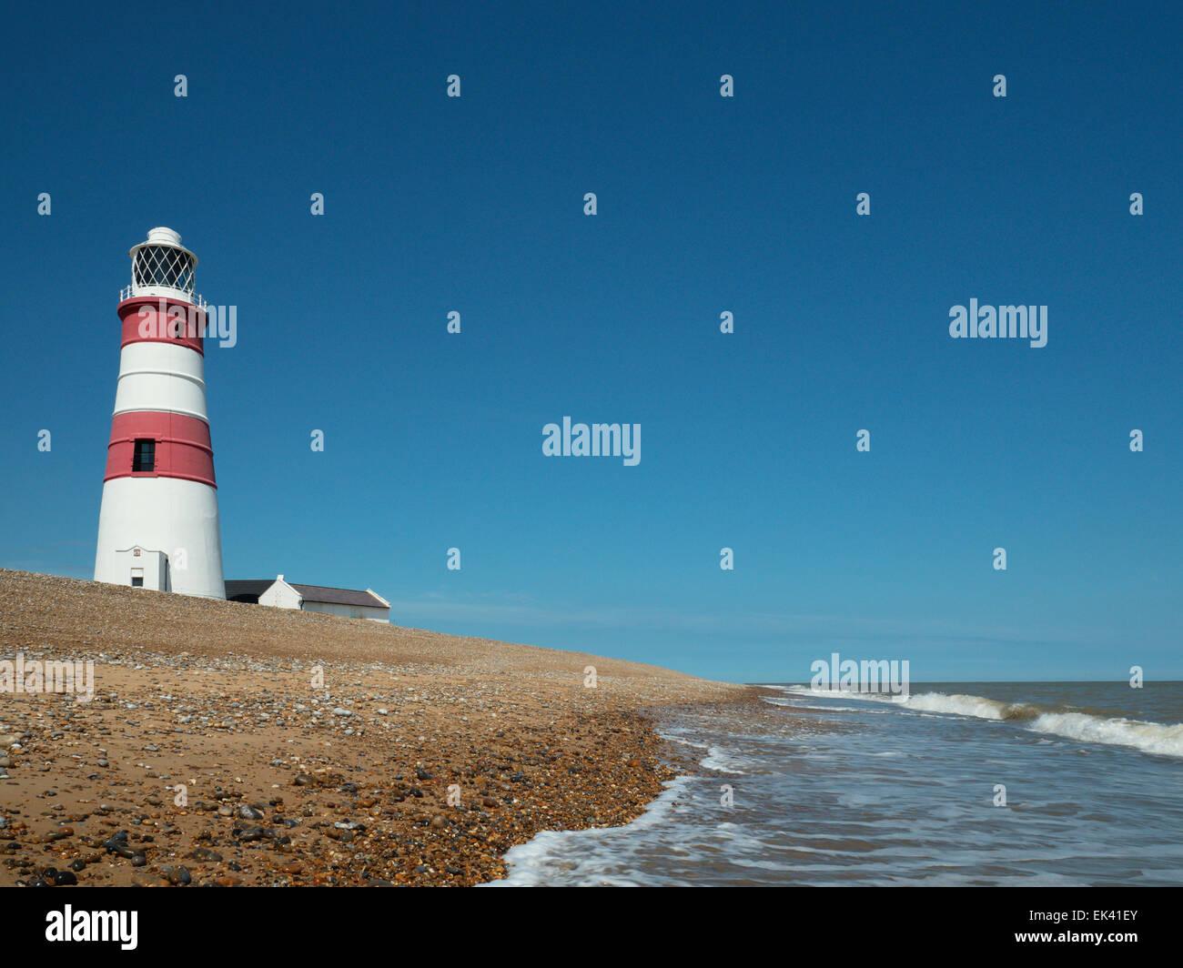 Orfordness Lighthouse, Orford, Suffolk, England, United KingdomStock Photo