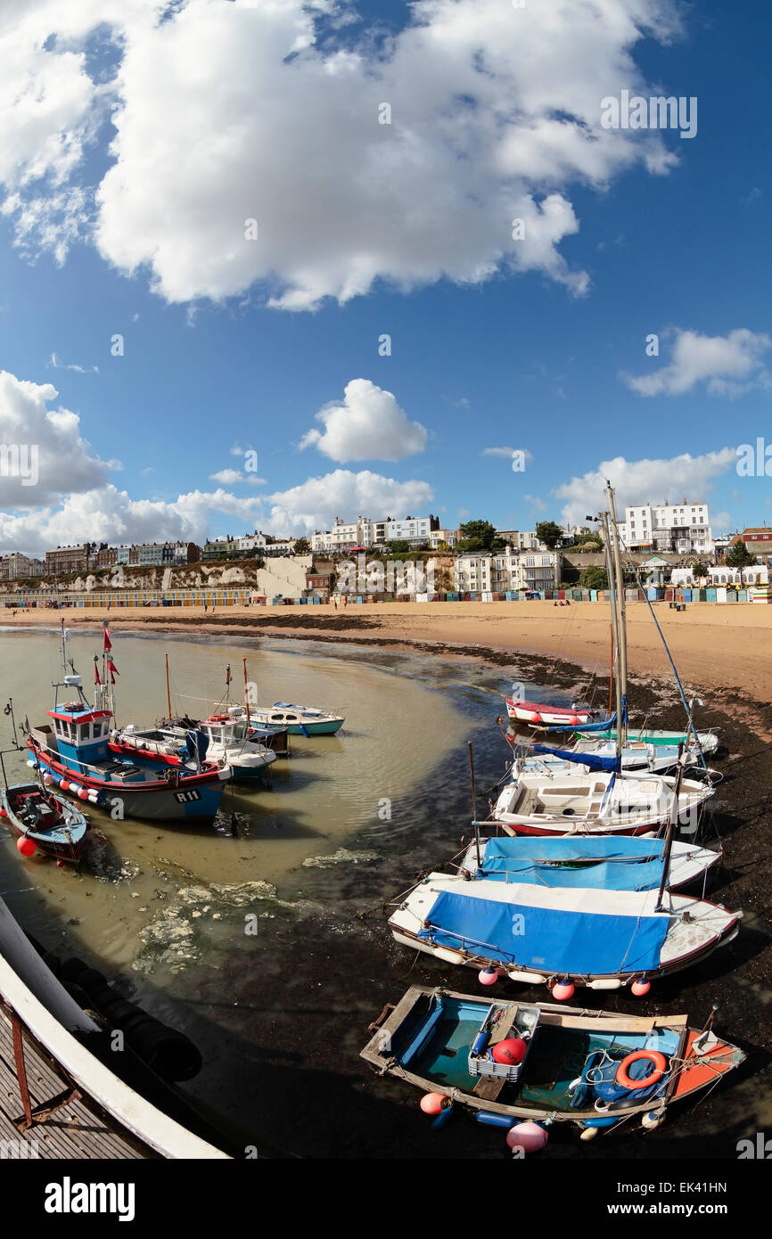 Broadstairs Harbour, Viking Beach and Bay, Broadstairs, Thanet, Kent England, United Kingdom Stock Photo