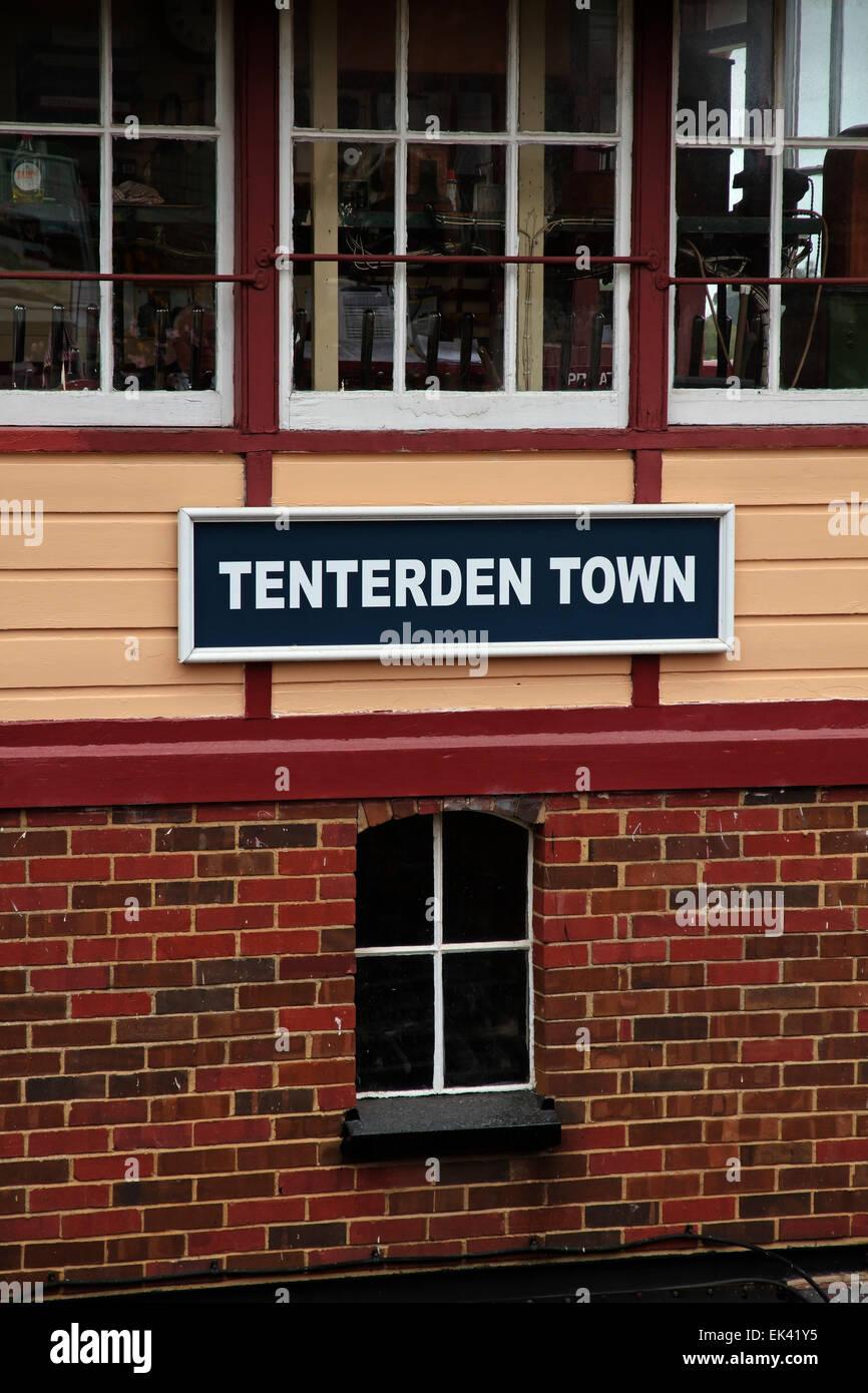 Tenterden Town Station, Kent & East Sussex Railway, Tenterden, Weald of kent, Kent, England, United Kingdom - Stock Image
