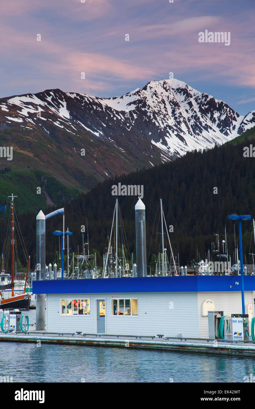 Fuel dock, Seward, Alaska - Stock Image