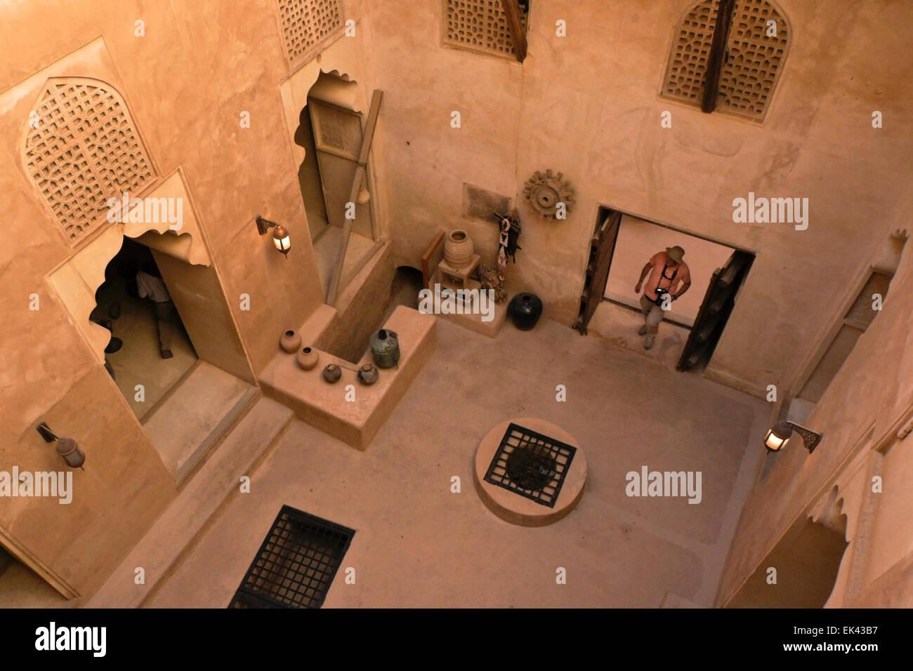 Interior of Jabrin (Jibreen, Jabreen, Gibreen) Castle, Oman - Stock Image