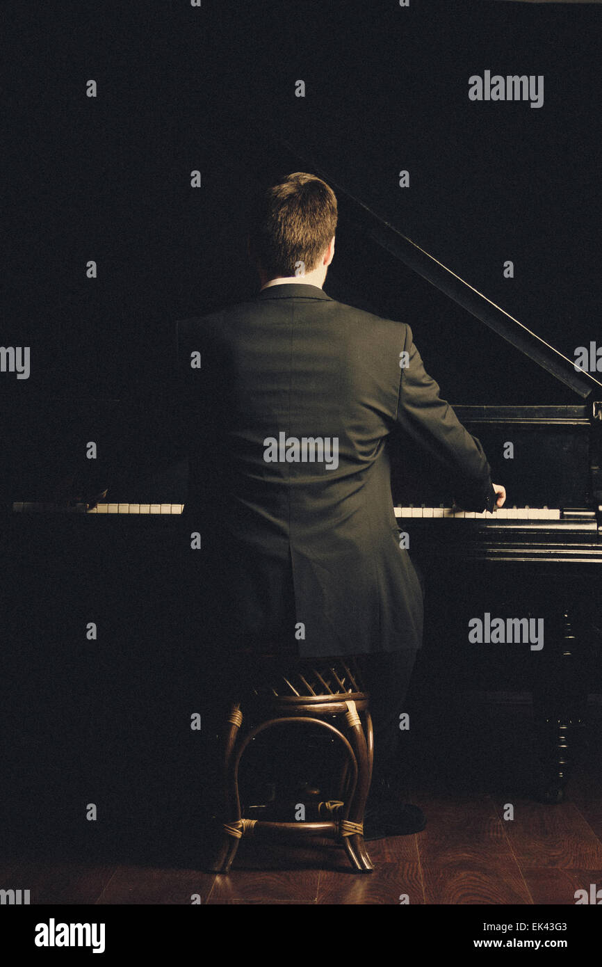 Piano classical music musician player - Stock Image
