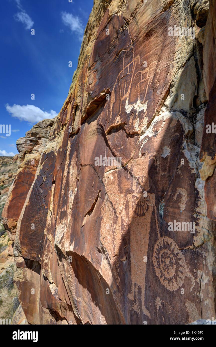 Mckee Springs Petroglyph - Dinosaur National Monument - Utah - Stock Image