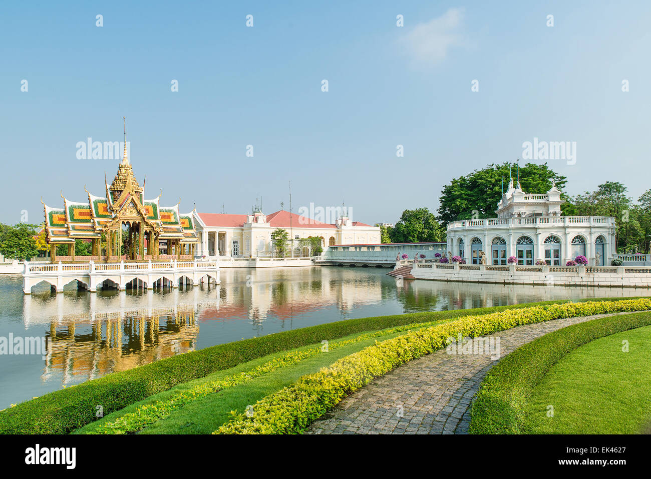 Bang Pa-In Royal Palace, Ayutthaya, Thailand - Stock Image