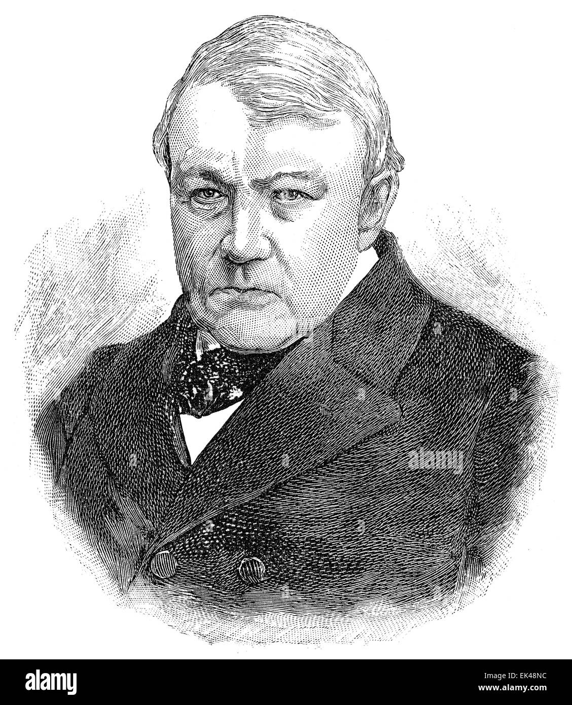Christian Friedrich Schönbein,  1799 - 1868, a German-Swiss chemist, - Stock Image