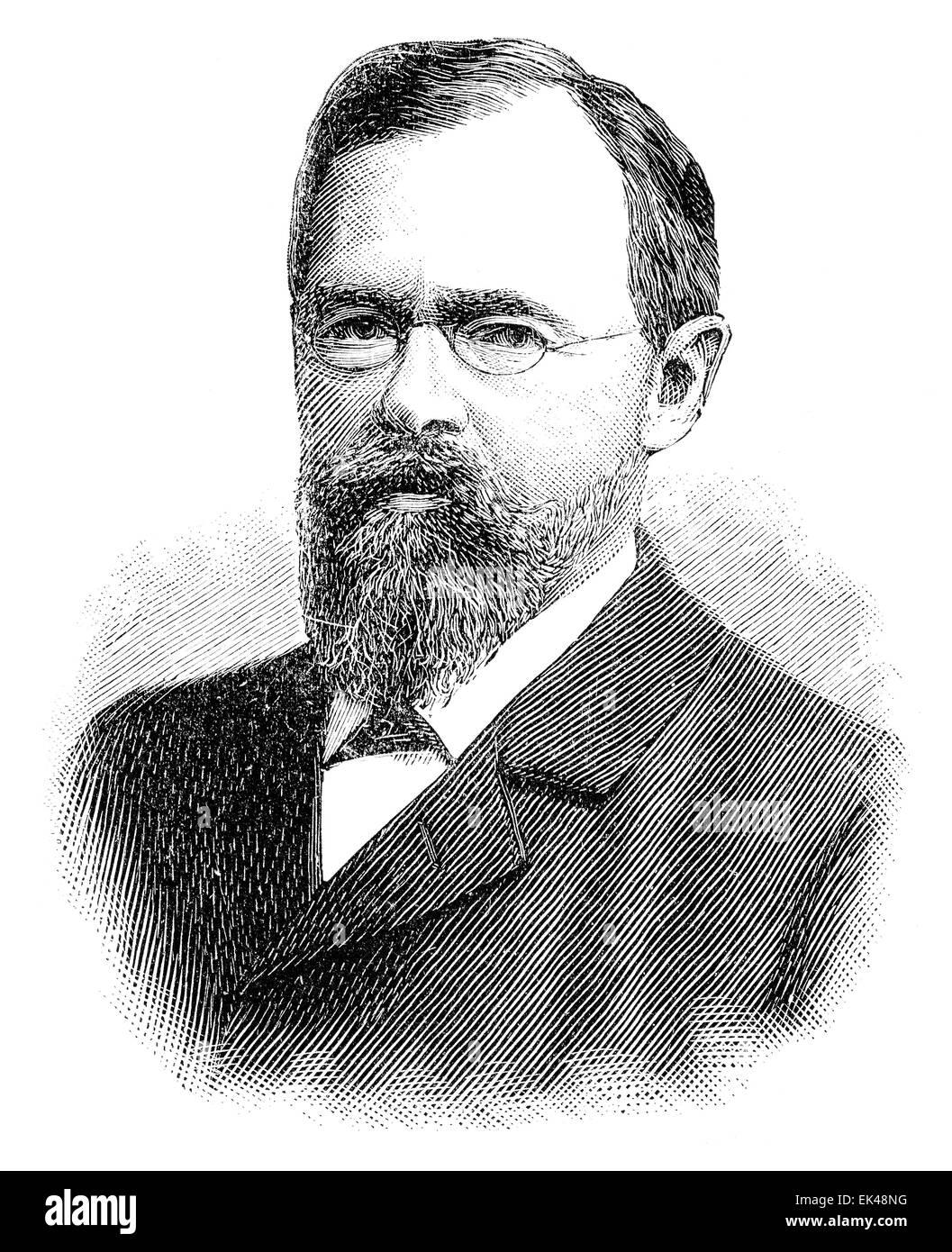 Carl Paul Gottfried Linde, Ritter von Linde, 1842 - 1934, a German engineer - Stock Image