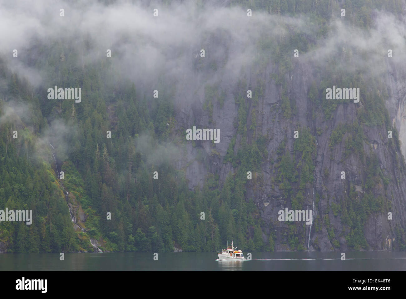 Boating in Misty Fiords National Monument, Ketchikan, Alaska. - Stock Image
