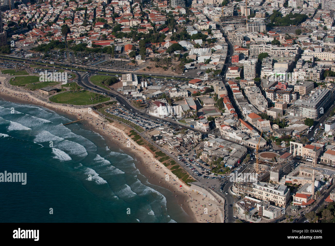 Aerial Photography of Old Jaffa, Israel - Stock Image