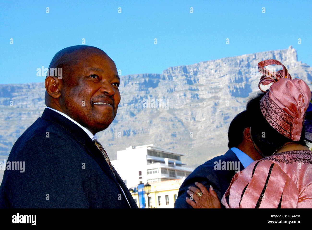 Mosiuoa Gerard Patrick Lekota, previously known as Terror Lekota from his playing style on the soccer field, the - Stock Image