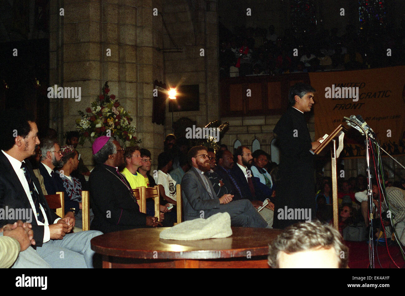 UDF, United Democratic Front's 6th birthday at St George's Cathedral,Cape Town 20 August 1989. The United - Stock Image