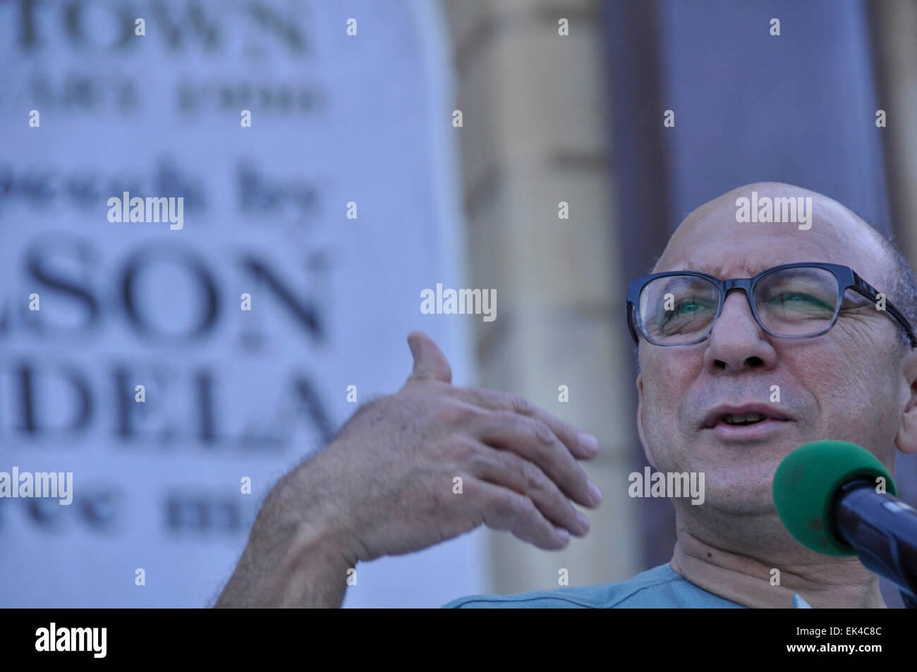 Trevor Manuel, former Minister of Finance , Minister in the Presidency speaks at  at an interfaith service held - Stock Image