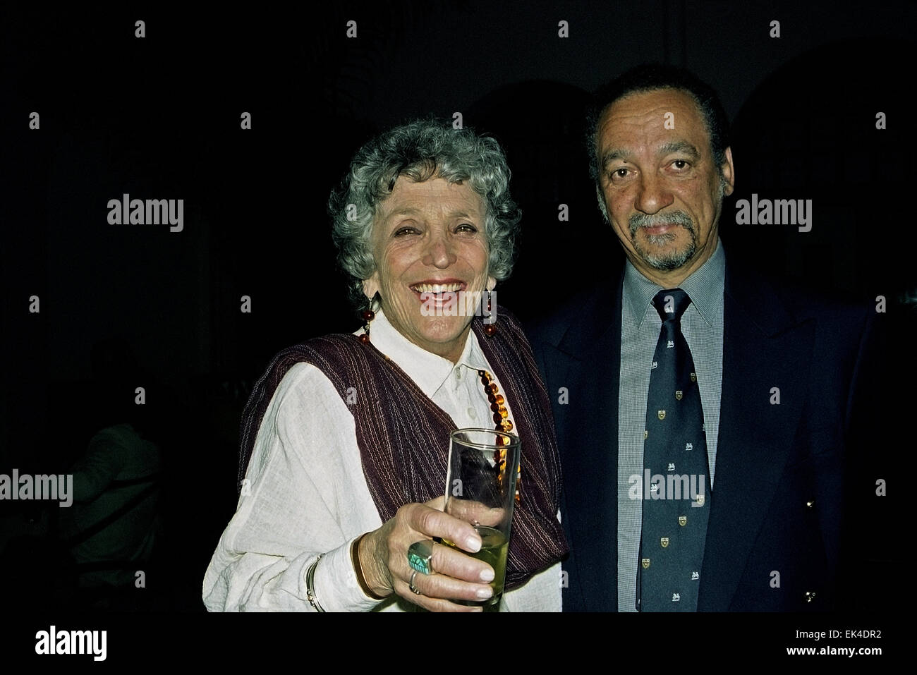 Dr AnneMarie Wolpe and Prof Jakes Gerwel at Harold Wolpe Memorial Trust Launch on 31 March 1997, at the Spier Festival - Stock Image