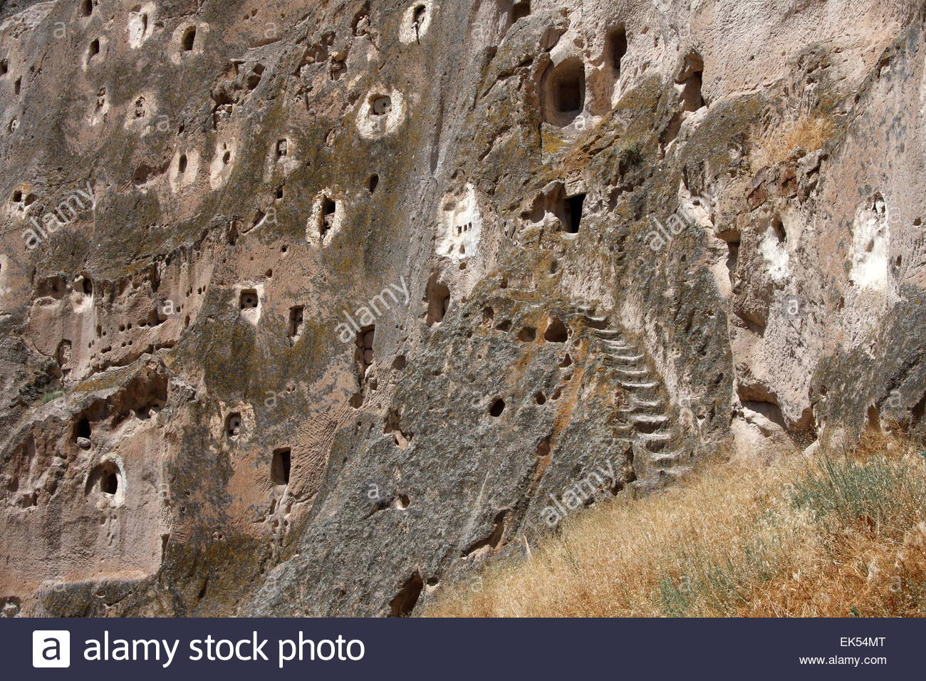 Early Christians fleeing from the Roman period, the Romans; rock the church and made homes. Today Cappadocia some - Stock Image