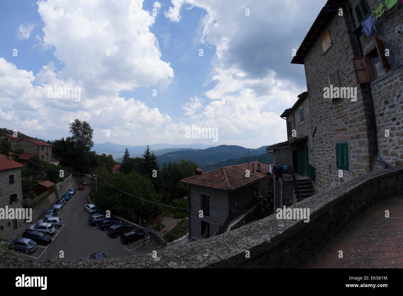 The village of Quota di Poppi, Arezzo - Stock Image