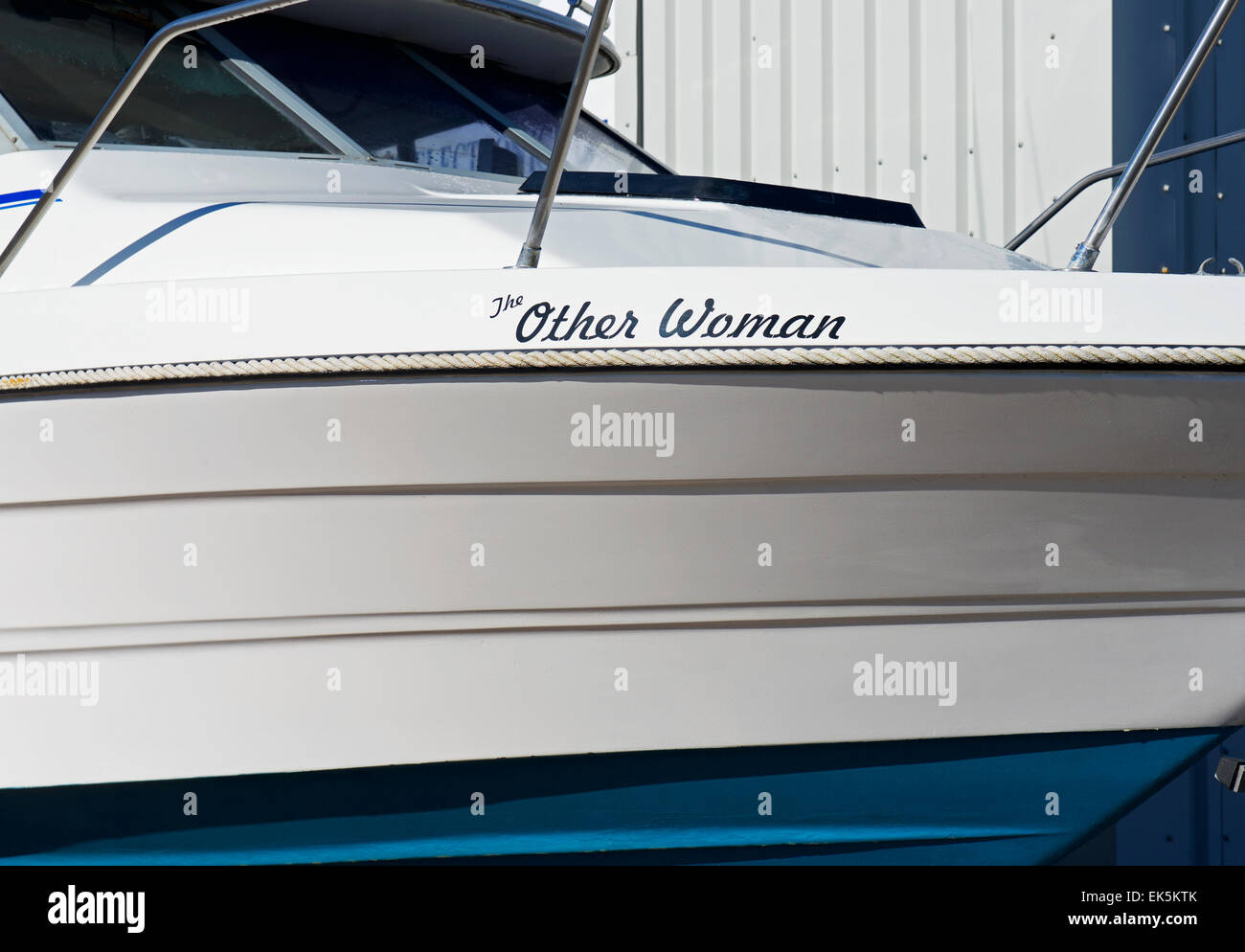 boat named The Other Woman - Stock Image