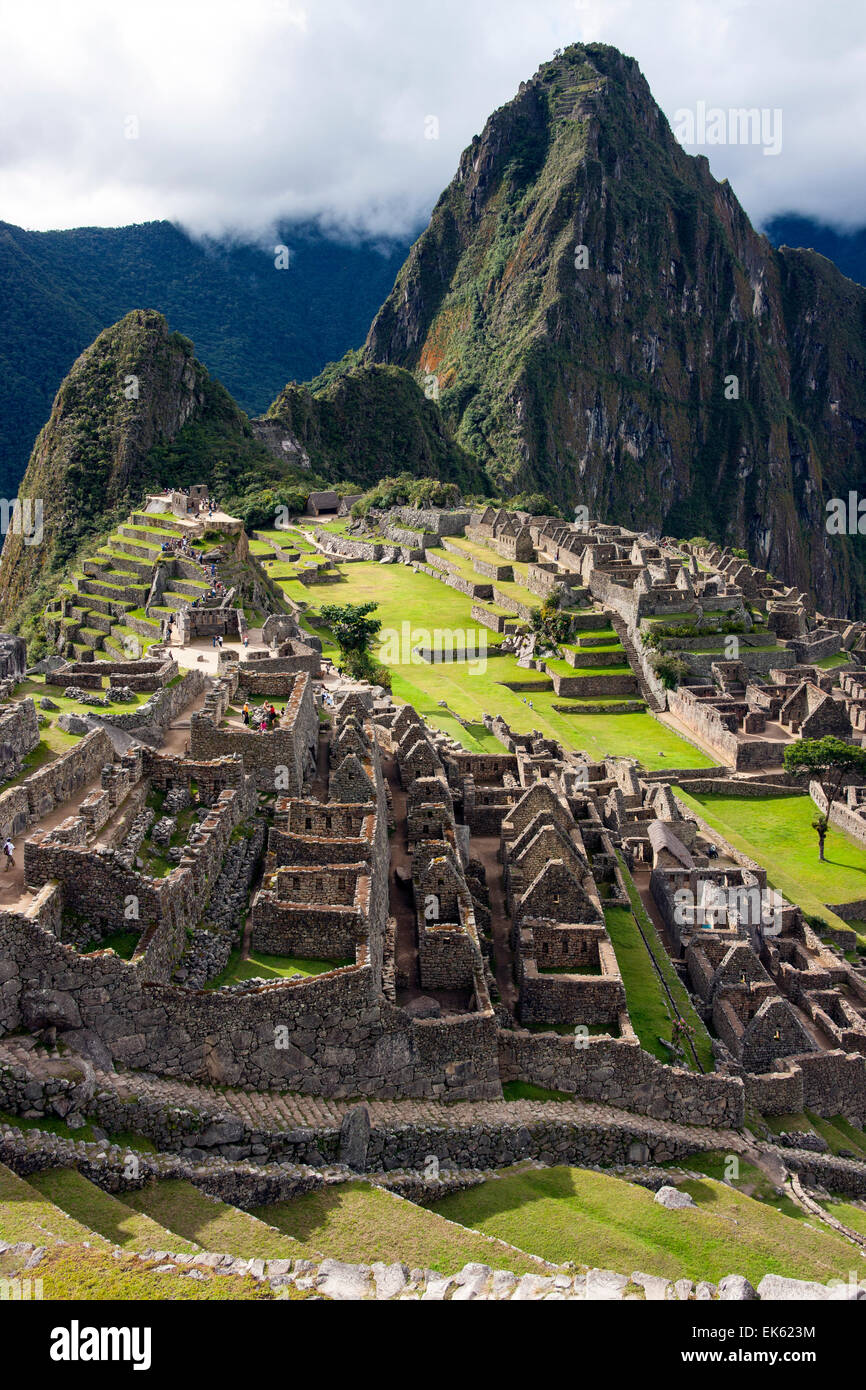The Inca citadel of Machu Picchu in Peru, South America. - Stock Image