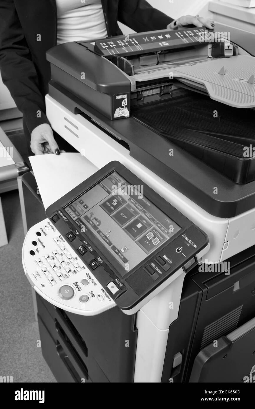 Xerox Machine Black and White Stock Photos & Images - Alamy