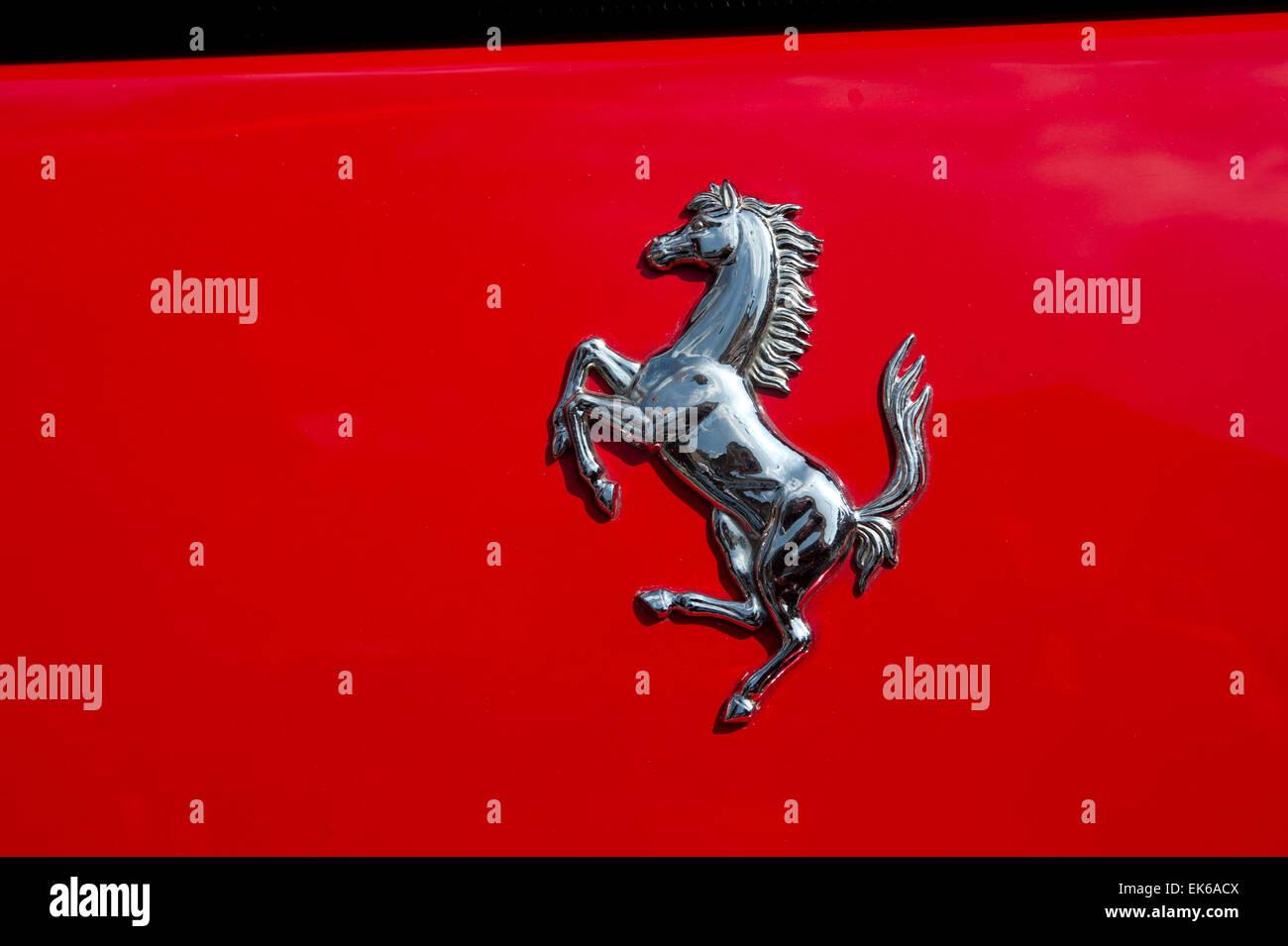Ferrari Prancing Horse Logo Stock Photo 80659850 Alamy