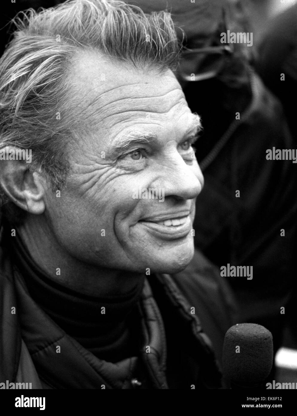 AJAXNETPHOTO. - 29TH MARCH, 1982. GOSPORT, ENGLAND. - WHITBREAD WORLD RACE  - OVERALL WINNER FLYER SKIPPER CORNELIS - Stock Image