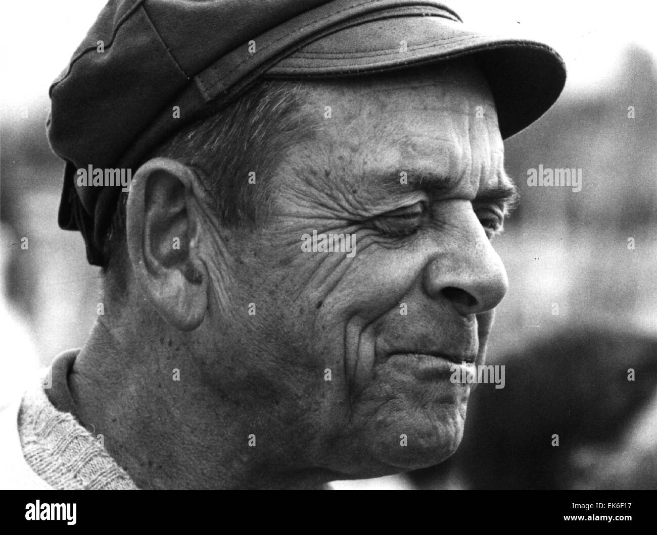 AJAXNETPHOTO - 6TH JUNE, 1980. PLYMOUTH, ENGLAND. - SAILING - HISTORY -  OSTAR 1980 - SINGLE-HANDED RACE - MOXIE - Stock Image