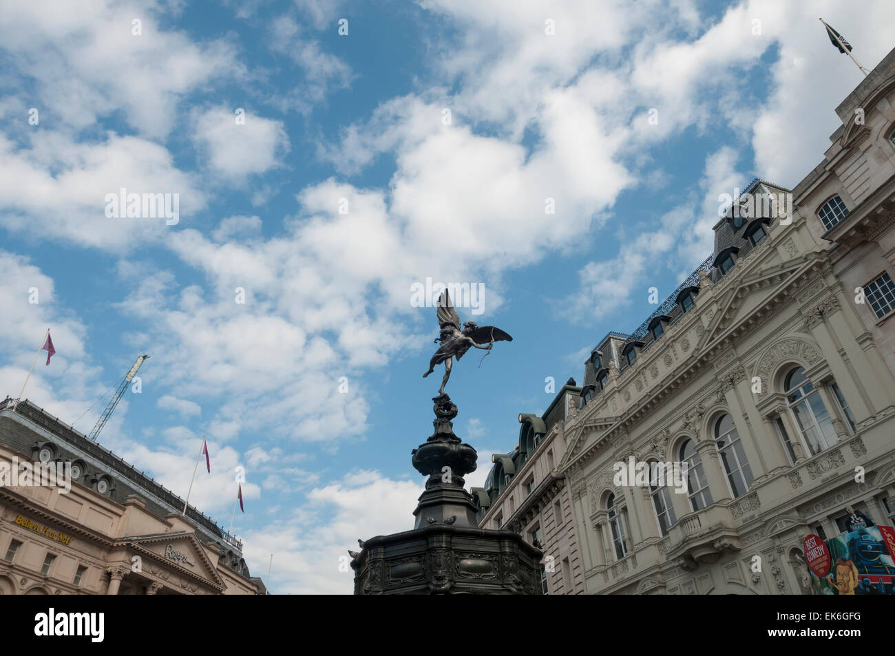 Eros statue at Piccadilly Circus, London. - Stock Image