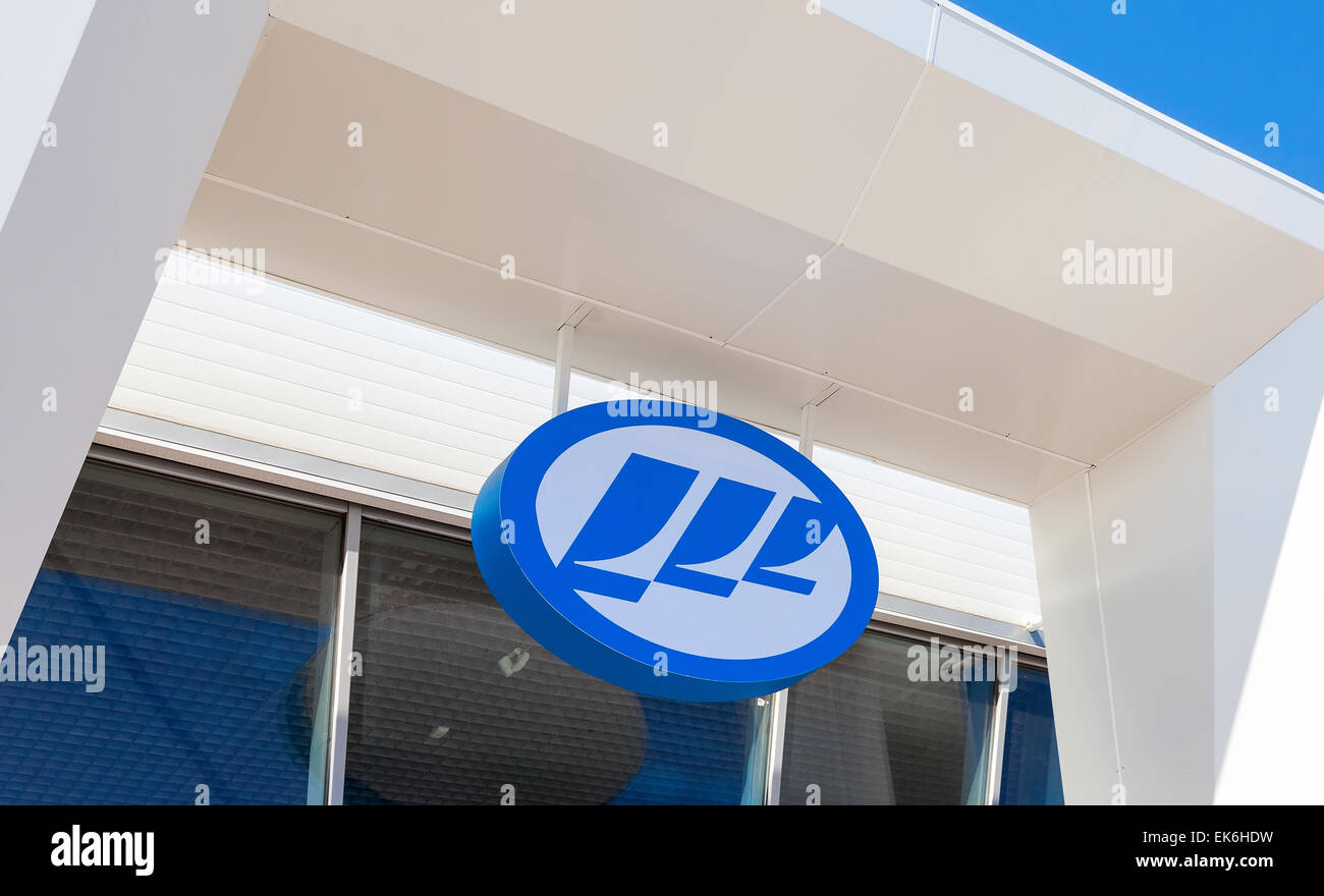 Lifan Motors automobile dealership sign. - Stock Image