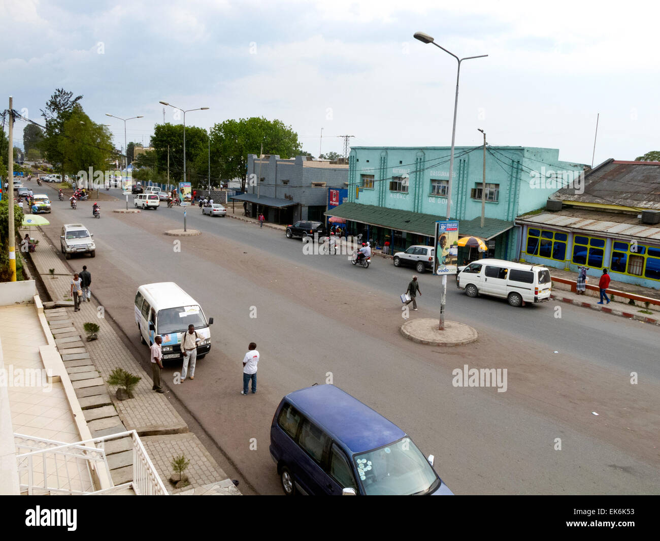 The main road, Goma town centre, North Kivu Province, Democratic republic of Congo ( DRC ), Africa - Stock Image