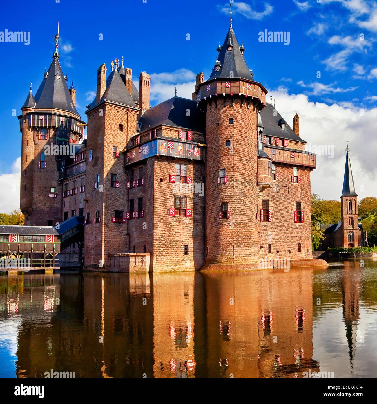 beautiful castle De Haar in Holland - Stock Image
