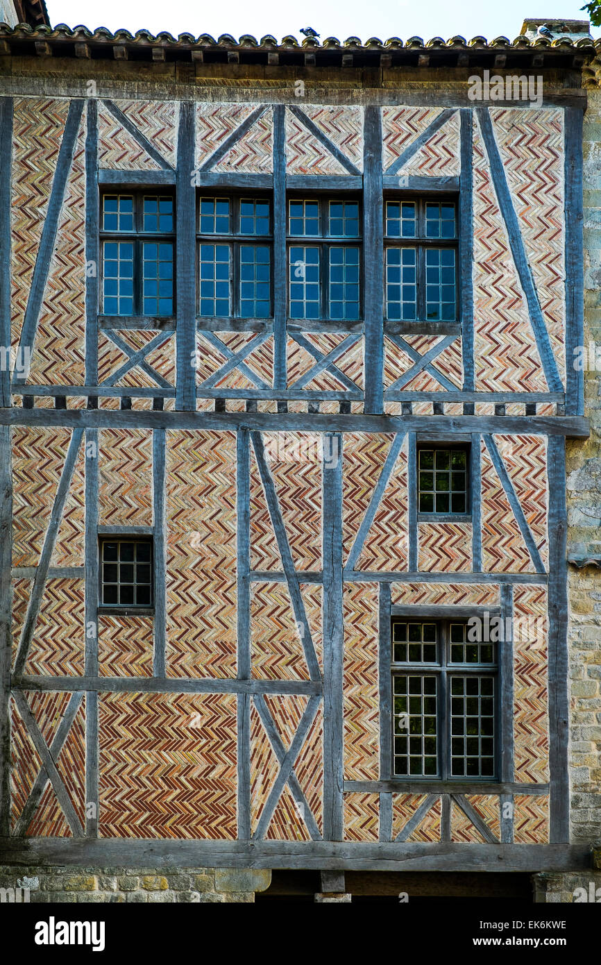 medieval house front - Stock Image