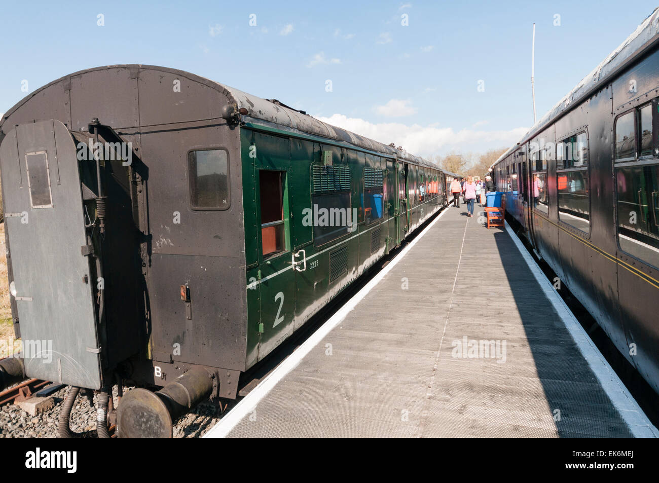 Railway carriages at Downpatrick Railway Preservation Society - Stock Image