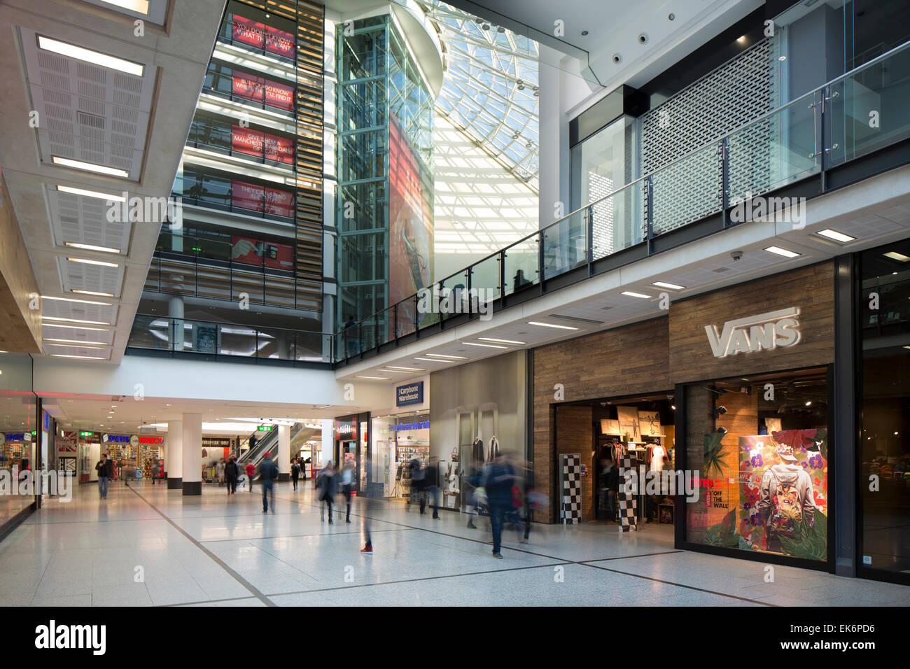 manchester arndale vans store interior - Stock Image