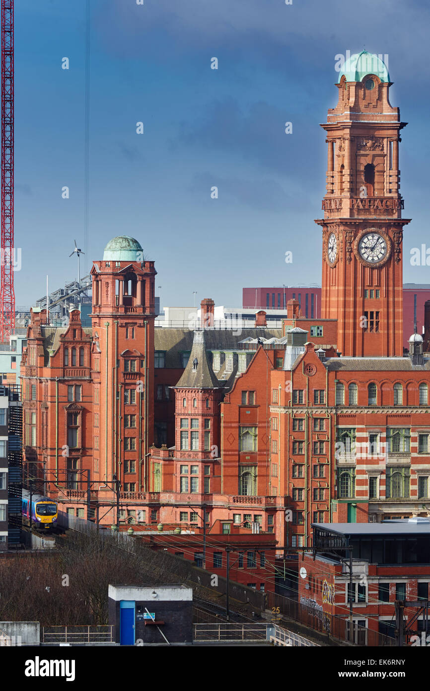 The Palace Hotel, previously the Refuge Assurance Building or Refuge Building, stands at the corner of Oxford Street - Stock Image
