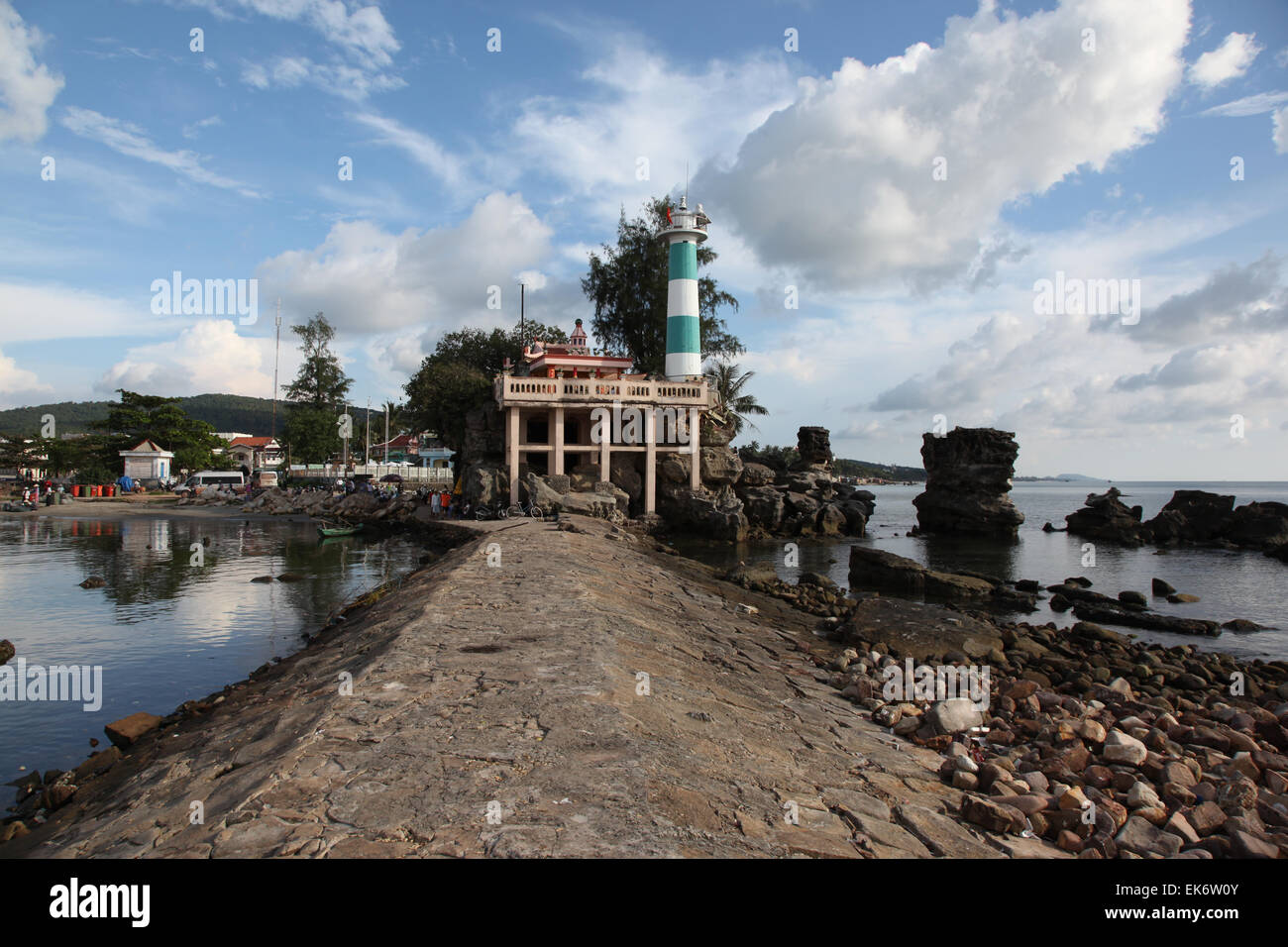 Lighthouse on the island of Phu Quoc, Vietnam, Southeast Asia Stock Photo