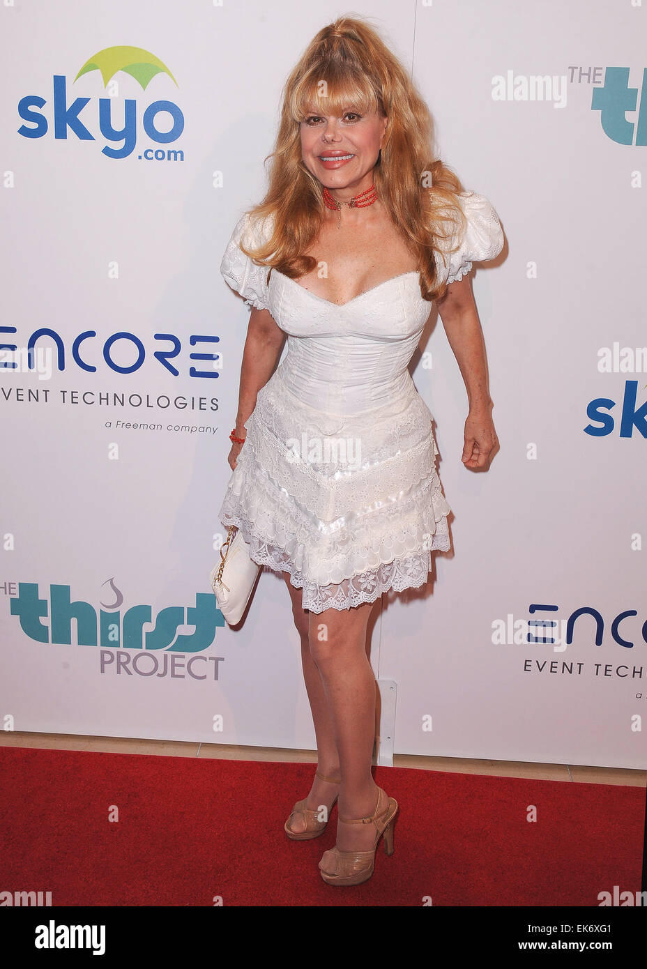The 5th Annual Thirst Gala in partnership with Skyo and Relativity Media's film 'Earth to Echo' at The - Stock Image