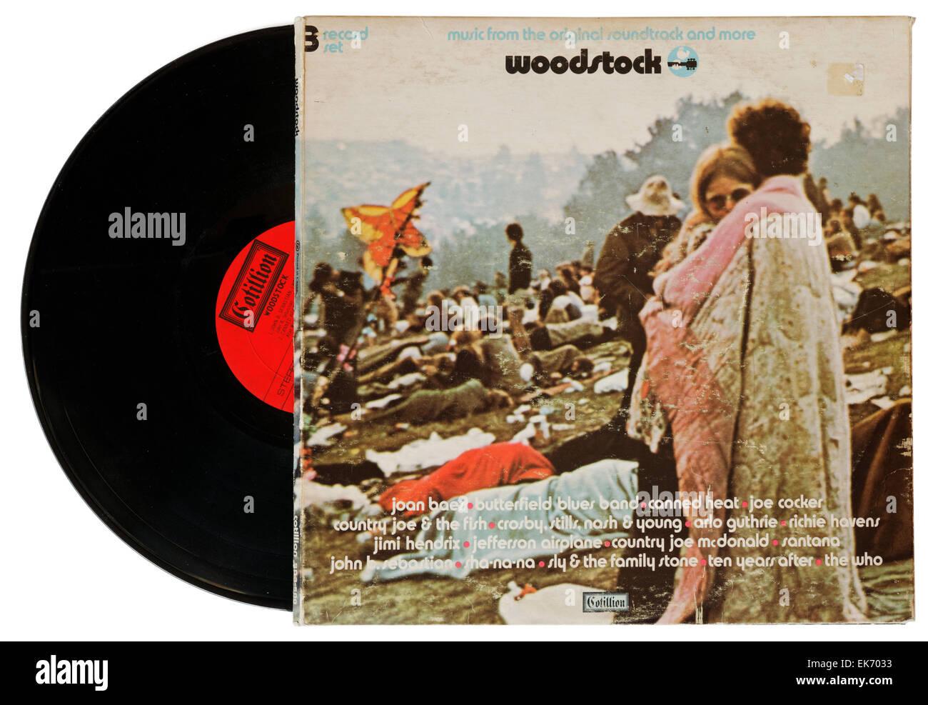 Woodstock Festival soundtrack album - Stock Image