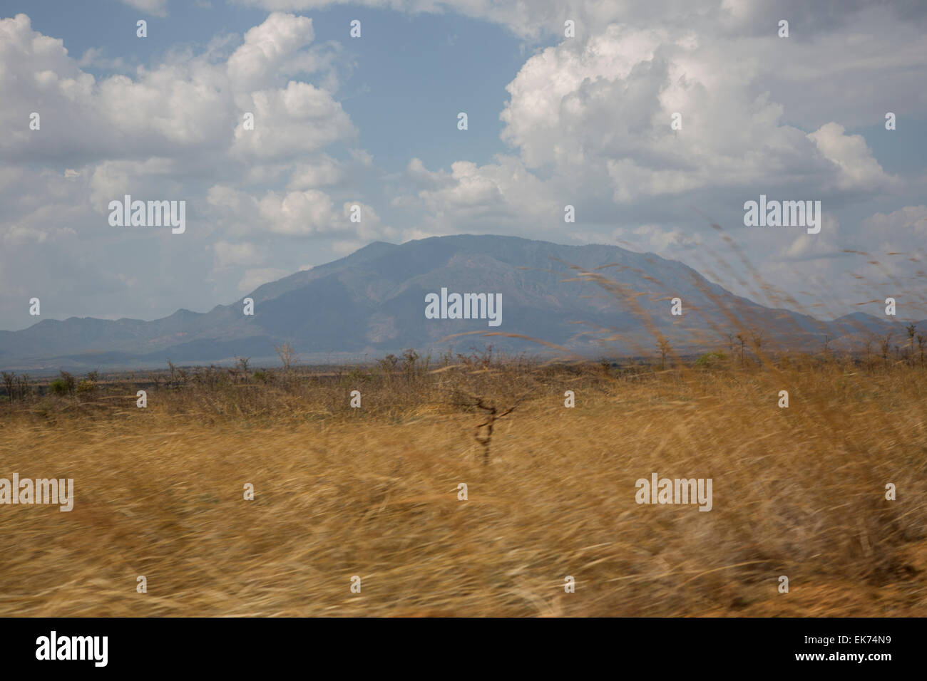 Mountain where John Garang's helicopter crashed - South Sudan. - Stock Image