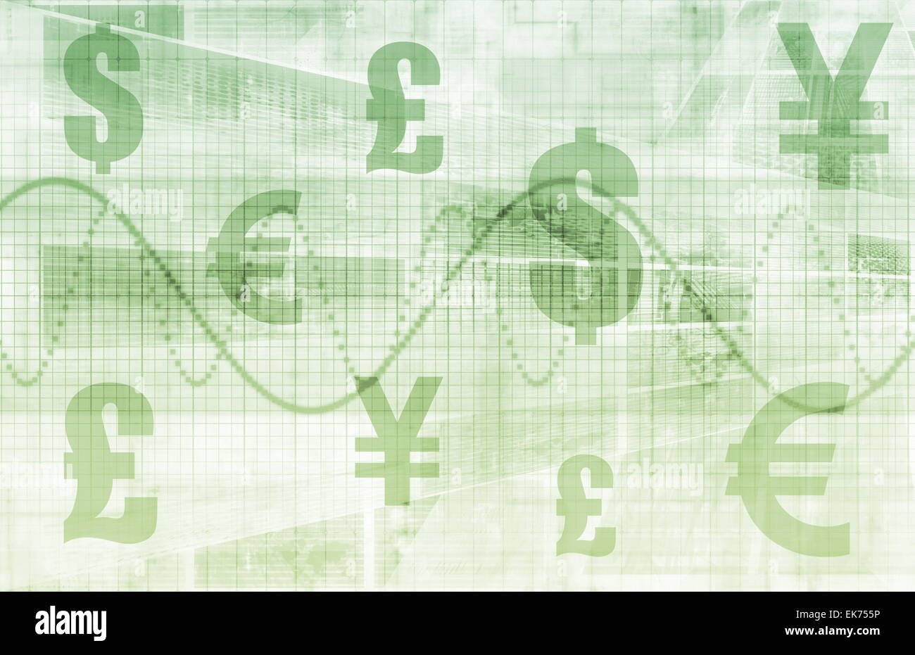 Global Currencies - Stock Image